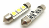 2 AMPOULE NAVETTE C5W A 3 LED SMD 5050 TAILLE 36 MM AVEC SYSTEME CANBUS ANTI ERREUR ODB