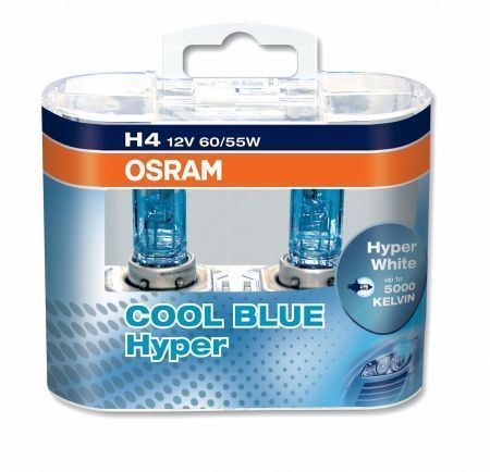 2 ampoule h4 12v 60 55w osram cool blue hyper look xenon. Black Bedroom Furniture Sets. Home Design Ideas