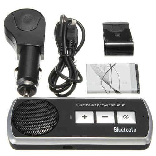 KIT AUTO BLUETOOTH MAINS LIBRES - BATTERIE + CHARGEUR