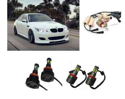 KIT 2 AMPOULE LED ANGEL EYES H8 BMW SERIE 1 3 5 6 X5 X6 E87 E90 LCI E92 E60 E70 E71