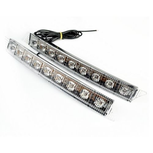 2 PROJECTEUR LED DRL FEUX DE JOUR DIURNE A 9 LED BLANC WATERPROOF