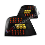 Volkswagen Golf 4 GTI TDI MK4 LED Tail Lights BLACK SMOKE VW Rear Lamps PAIR