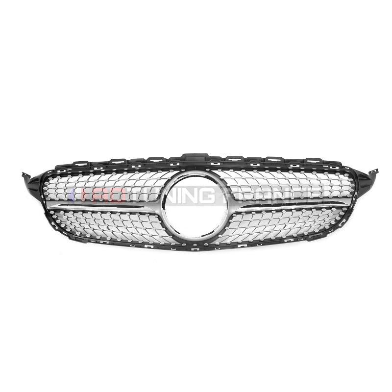 calandre diamant mercedes classe c w205 look amg compatible avec votre ancienne embleme. Black Bedroom Furniture Sets. Home Design Ideas