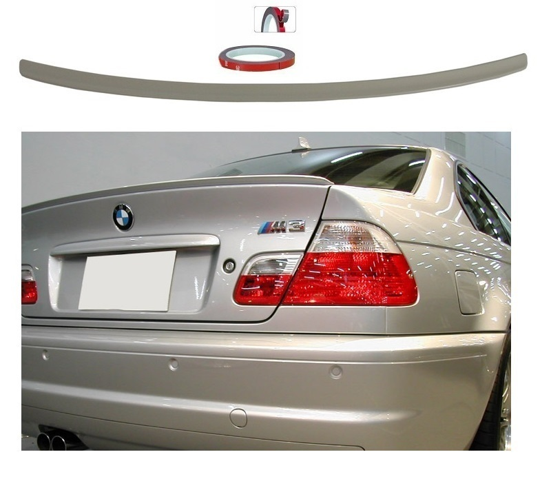 spoiler lame de coffre en abs look csl bmw serie 3 e46 coupe de 1999 a 2006 adtuning