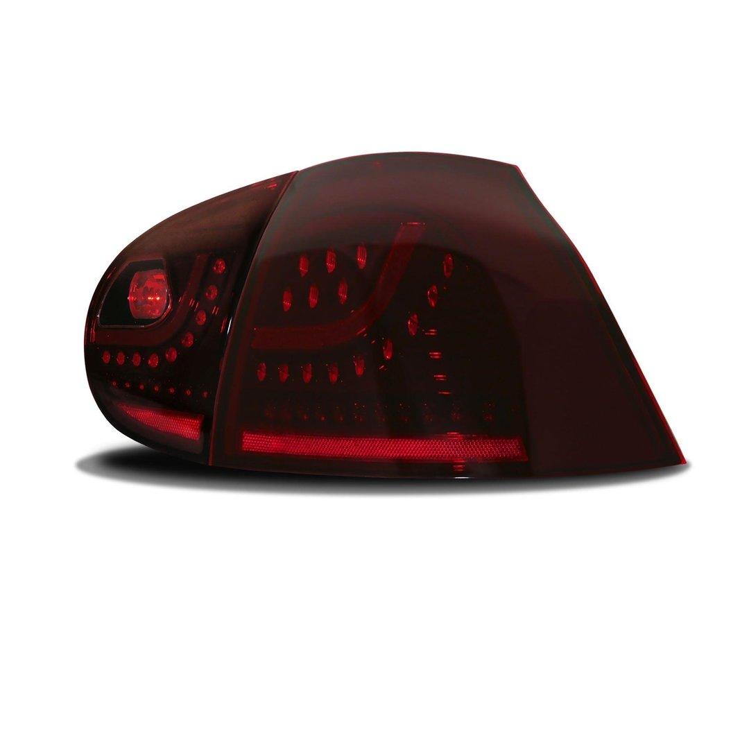 2 feux arriere a led rouge cerise vw golf 5 adtuning france. Black Bedroom Furniture Sets. Home Design Ideas