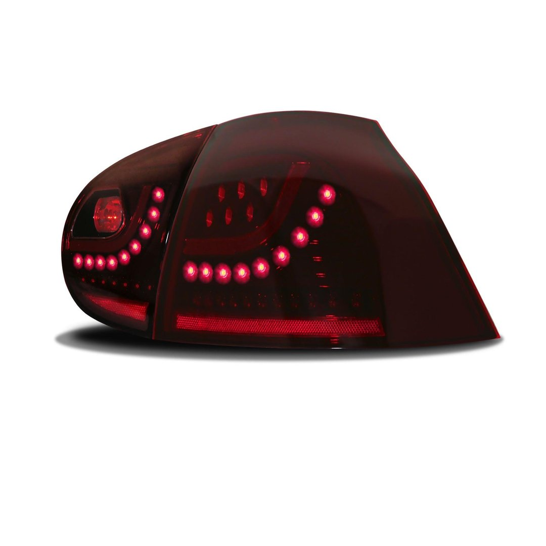 2 feux arriere a led rouge cerise vw golf 5 adtuning france. Black Bedroom Furniture Sets. Home Design Ideas