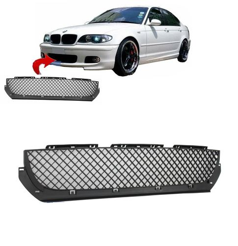GRILLE CENTRAL PARECHOC PACK M M2 BMW SERIE 3 E46 BERLINE