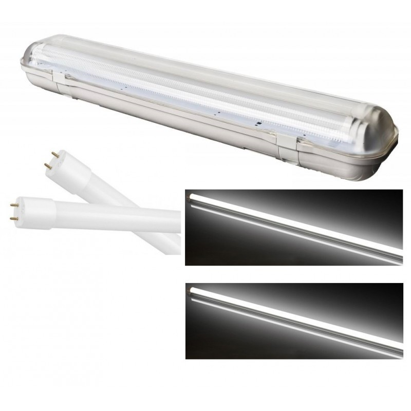 Reglette support etanche led 46w a double tube led t8 - Reglette etanche led ...