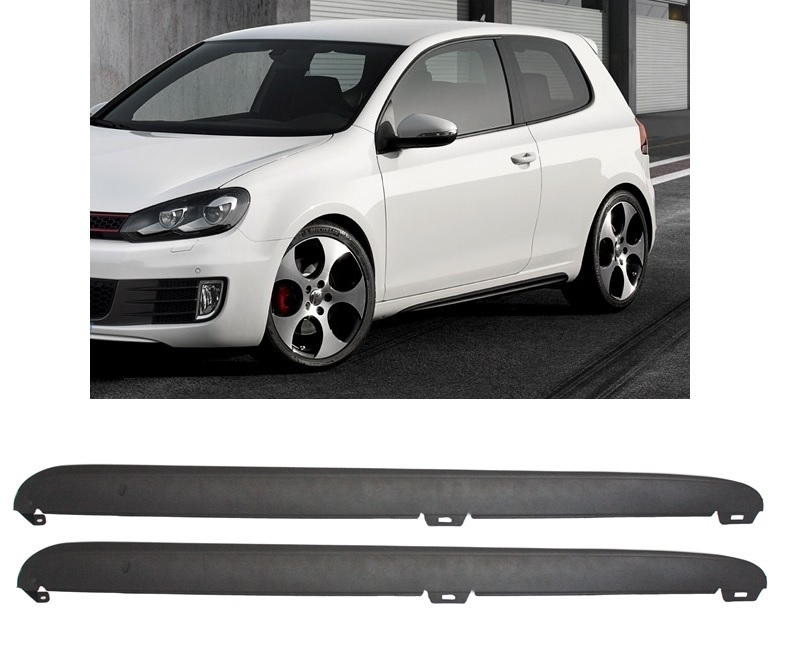 lot de 2 bas de caisse vw golf 6 look gti supports de fixations adtuning france. Black Bedroom Furniture Sets. Home Design Ideas