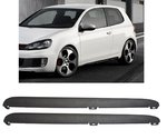 LOT DE 2 BAS DE CAISSE VW GOLF 6 LOOK GTI + SUPPORTS DE FIXATIONS