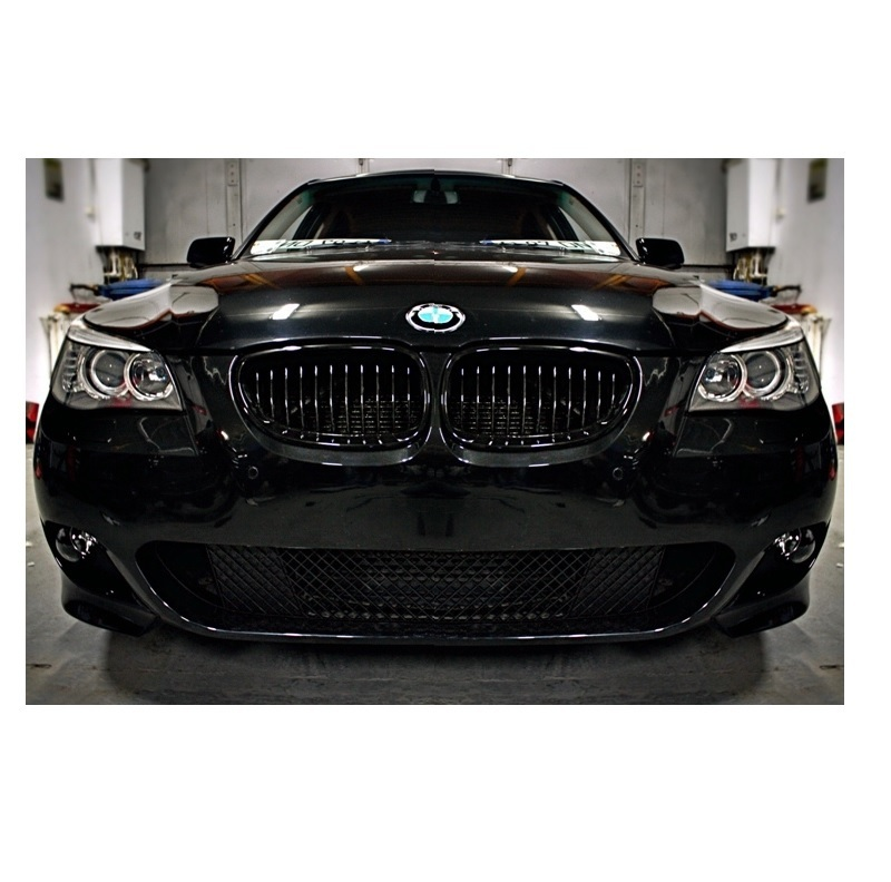 2 grille de calandre noir brillant laque bmw serie 5 e60 e61 7 03 05 2010 adtuning france. Black Bedroom Furniture Sets. Home Design Ideas