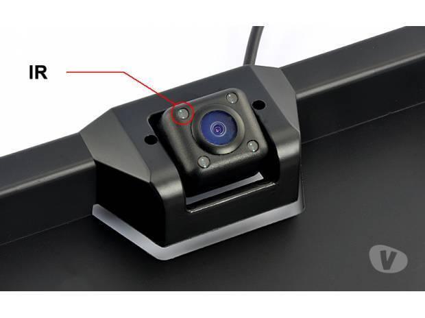 camera de recul sans fil 4 led eclairage sur support plaque ecran couleur 4 3 pouces. Black Bedroom Furniture Sets. Home Design Ideas