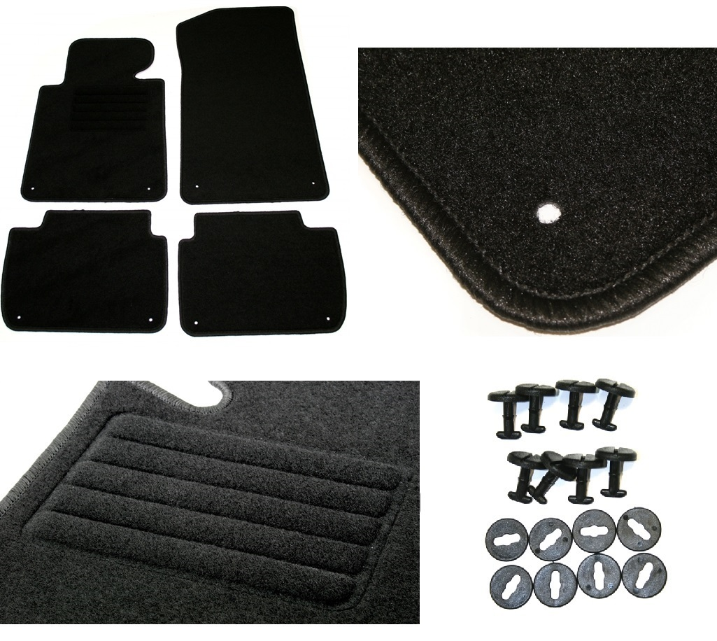 4 tapis de sol pour bmw serie 3 e46 compact de 06 2001 a 09 2004 ebay. Black Bedroom Furniture Sets. Home Design Ideas