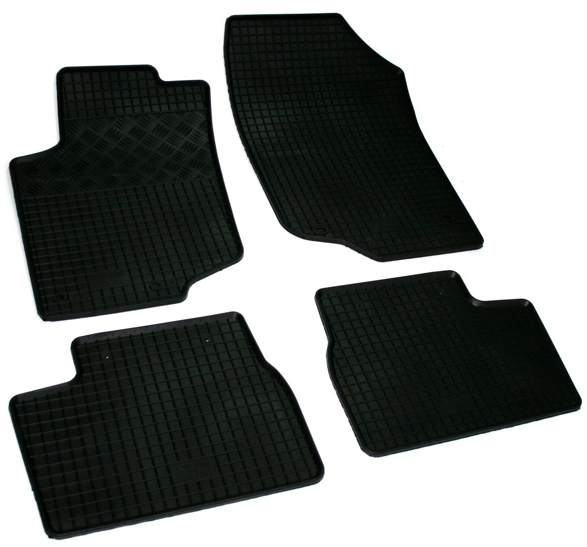 lot de 4 tapis de sol caoutchouc sur mesure peugeot 207 adtuning france. Black Bedroom Furniture Sets. Home Design Ideas