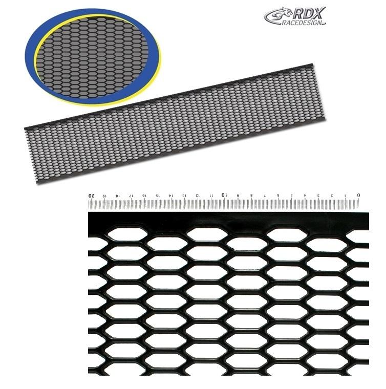grille en abs noir nid d 39 abeille 1m50 sur 30cm adtuning france. Black Bedroom Furniture Sets. Home Design Ideas