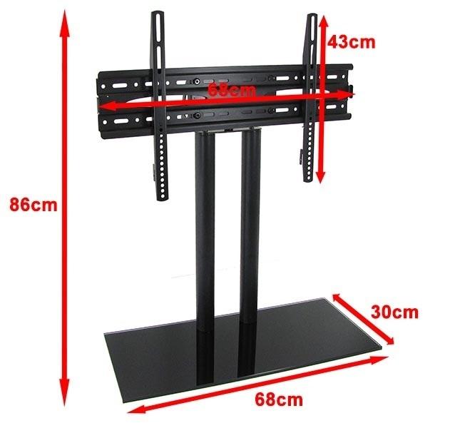 support tv sur pied pour tv plate de 32 a 65 pouce accessoires de montage ebay. Black Bedroom Furniture Sets. Home Design Ideas