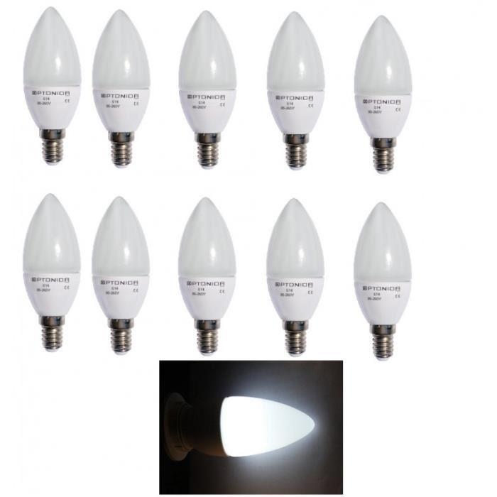 lot 10 ampoule led e14 4w blanc froid 6000k adtuning france. Black Bedroom Furniture Sets. Home Design Ideas