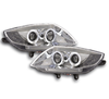 2 FEUX PHARE AVANT ANGEL EYES BMW Z4 E85 E86 FOND CHROME DE 2003 A 2008