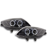 2 FEUX PHARE AVANT FOND NOIR ANGEL EYES LED BMW Z4 2002-2008