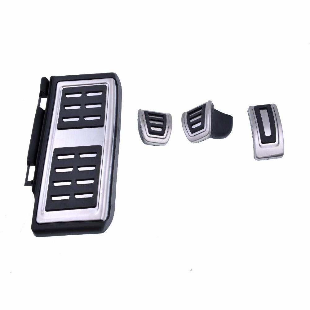 4 pedalier aluminium antiderapant boite manuel vw polo 5 golf 7 audi a3 8v seat leon 3. Black Bedroom Furniture Sets. Home Design Ideas