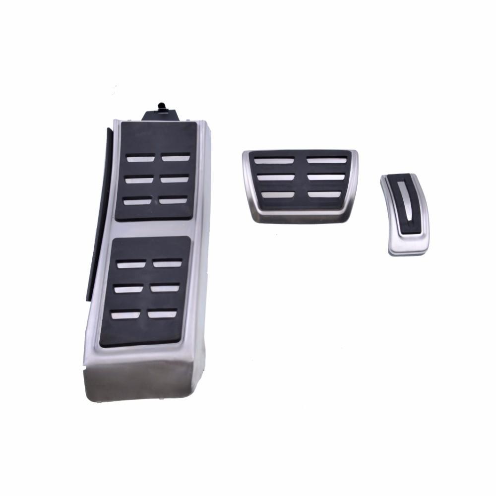 3 pedalier aluminium antiderapant boite automatique audi a4 b8 a5 q3 q5 a6 c7 a7 a8 adtuning. Black Bedroom Furniture Sets. Home Design Ideas