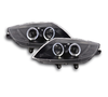 2 FEUX PHARE AVANT ANGEL EYES BMW Z4 E85 E86 FOND NOIR DE 2003 A 2008