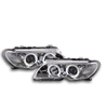 2 FEUX PHARE AVANT ANGEL EYES CHROME BMW SERIE 3 E46 COUPE ET CABRIOLET PHASE 2 EN D2S