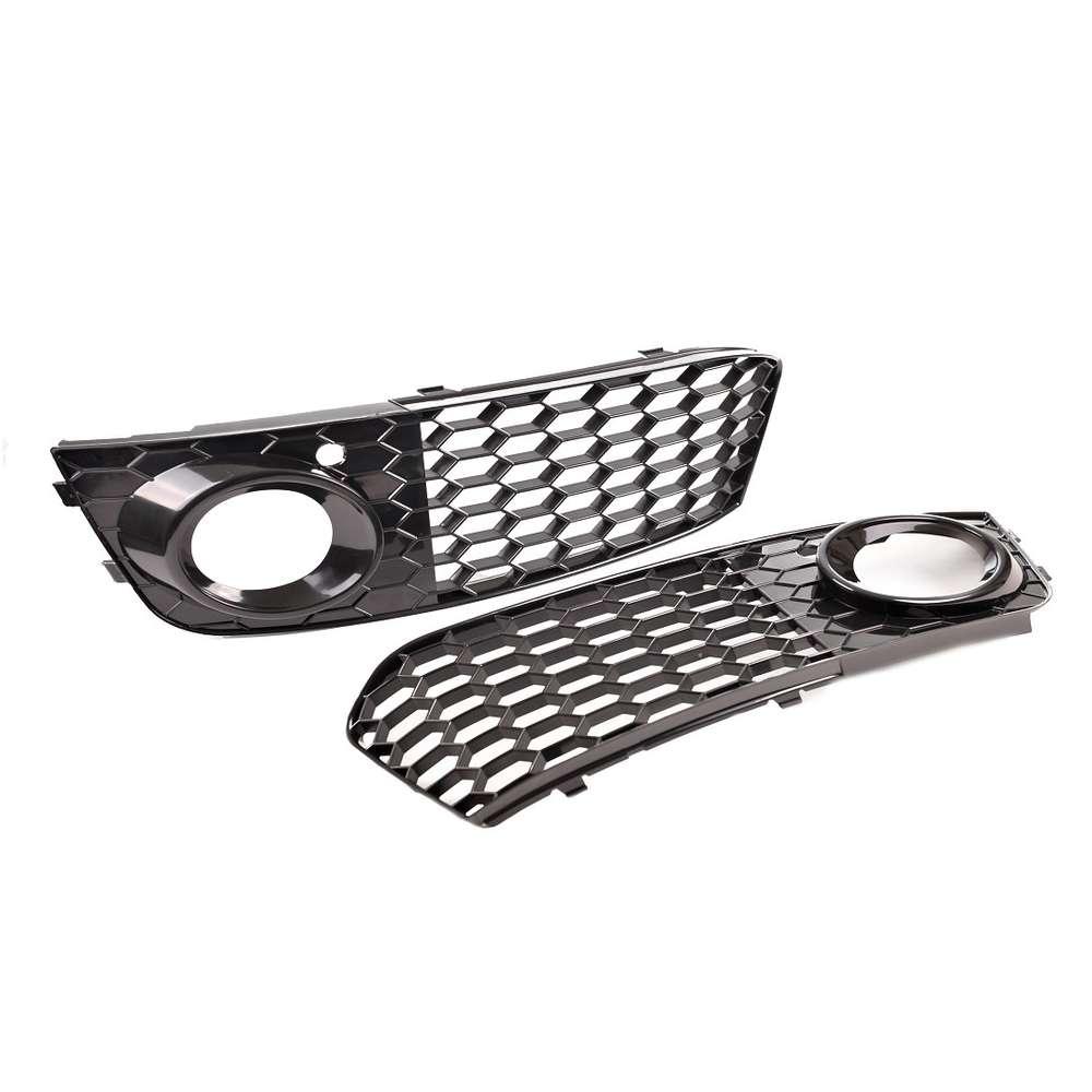 2 Cache Grille Antibrouillard Look Rs4 Audi A4 B8 Nid D Abeille De