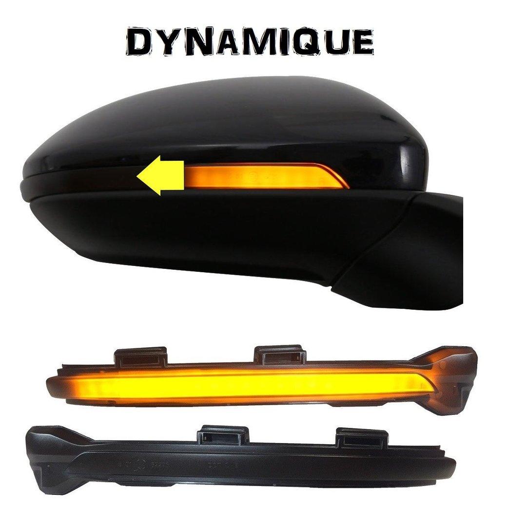 2 clignotant led defilant dynamique noir de retroviseur vw. Black Bedroom Furniture Sets. Home Design Ideas